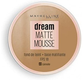 Fond de teint Dream Matte Mousse Maybelline, n°40 Cannelle, en lot de 6p, neuf, sans blister