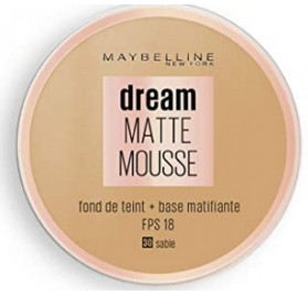 Fond de teint Dream Matte Mousse Maybelline, n°30 Sable, en lot de 6p, neuf, sans blister