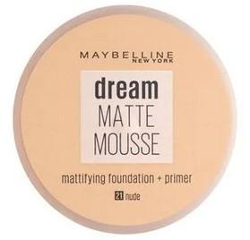 Fond de teint Dream Matte Mousse Maybelline, n°21 Beige doré, en lot de 6p, neuf, sans blister