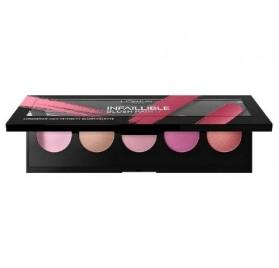 Blush L'oreal Infaillible Paint Palette couleur Pink en lot de 6p,sans blister