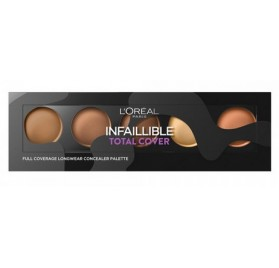 Palette Correctrice L'oreal Infaillible Total Cover n°02 Medium a foncé, en lot de 6p, sans blister