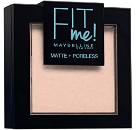 Poudre Maybelline Fit Me n°102 Ivoire Clair, en lot de 6p, neuf