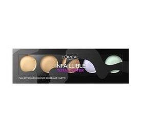 Palette Correctrice L'oreal Infaillible Total Cover n°01 Clair a Medium, en lot de 6p, sans blister