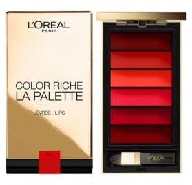 L'Oréal Color Riche La Palette levre Rouge red, en lot de 6p, neuf sans blister