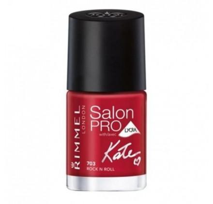 Vernis Rimmel Salon Pro Kate n°703 Riviera Red, en lot de 6p