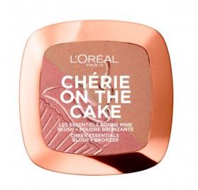 Blush + Poudre Bronzante l'Oréal Cherie On The Cake n°02 Cherry Crush, en lot de 6p