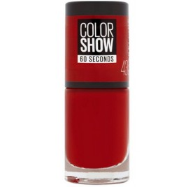 Vernis à ongles Maybelline Color Show n°43 Red Apple, en lot de 6p