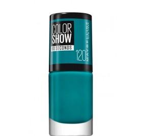 Vernis à ongles Maybelline Color Show n°120 Urban Turquoise, en lot de 6p