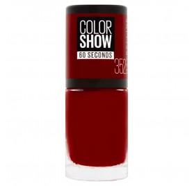 Vernis à ongles Maybelline Color Show n°352 Downtown Red, en lot de 6p