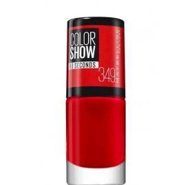 Vernis à ongles Maybelline Color Show n°349 Power Red, en lot de 6p