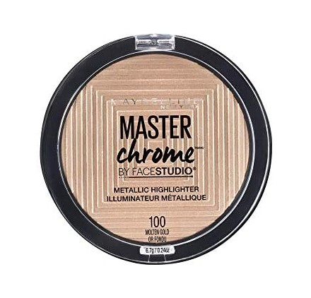 Poudre Maybelline Master Chrome Enlumineur Metallique, n°100 Molten Gold, en lot de 6p