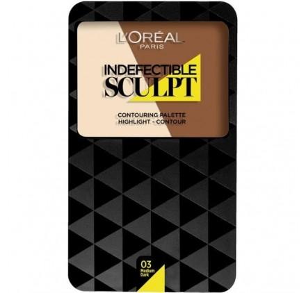 Poudre Contouring L'Oréal Infaillible indefectible Sculpt, n°03 Medium a mate, en lot de 6p
