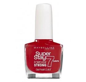 Vernis à ongles Maybelline Superstay 7 days Forever Strong n°501 Rouge Laqué, en lot de 6p