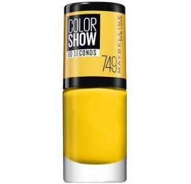 Vernis à ongles Maybelline Color Show n°749 Electric Yellow, en lot de 6p