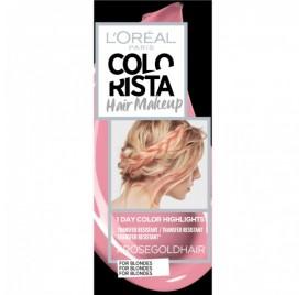 Colorista Coloration éphemere Hair Make Up, teinte Rosegoldhair, en lot de 6p