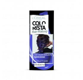 Colorista Coloration éphemere Hair Make Up, teinte Violethair, en lot de 6p