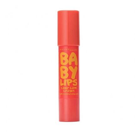 Baby Lips de Maybelline Color Balm Crayon Chubby, n°10 Sugar Orange, en lot de 6p
