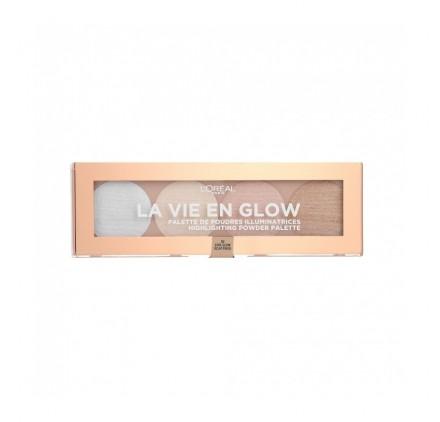 Poudre Illuminatrice L'Oréal La Vie en Glow n°02 Eclat Froid, en lot de 6p