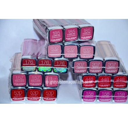 Rouge a levres Gemey Maybelline Color Sensational, mixte sans blister, en lot de 24p