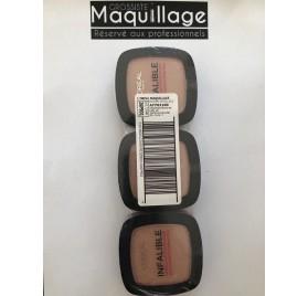 Poudre Infaillible L'Oréal n°245 , en lot de 12 pièces mixte, neuf sans blister