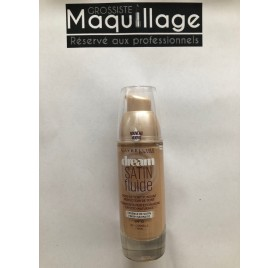 Fond de teint Gemey Maybelline Dream Satin Fluide,  n°40 cannelle en lot de 12p, sans blister