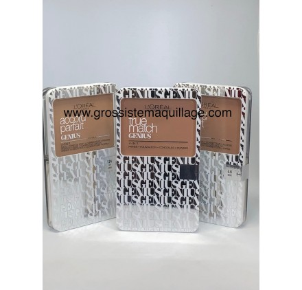 Poudre L'Oréal Genius sur 3 teintes en lot de 12 pièces neuf sans blister
