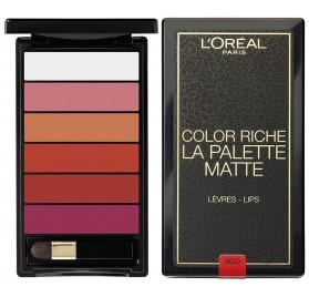 L'Oréal Color Riche La Palette Levre Matte, en lot de 6p, neuf