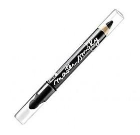 Crayon Ombre a paupiere Maybelline Master Smoky noir, en lot de 12p