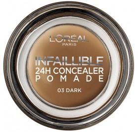 Correcteur de teint L'Oréal Infaillible 24H Concealer Pomade , n°03 Dark, en lot de 12, neuf