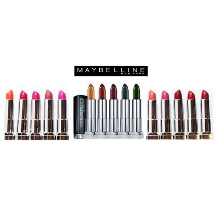Rouges a levres Maybelline Color Sensational, metallics, bold, matte assortis, en lot de 48p, neuf