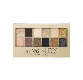 Fards à Paupières palette Maybelline The 24 karats nudes, en lot de 12p