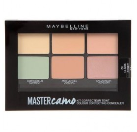Correcteur Maybelline palette Master Camo, teinte light-clair, en lot de 12p