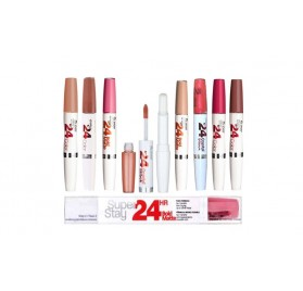 Rouge a levre Maybelline Superstay 24H, en lot de 12p, mixte