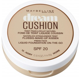 Fond de teint Maybelline Dream Cushion n°010 Ivoire, en lot de 12p