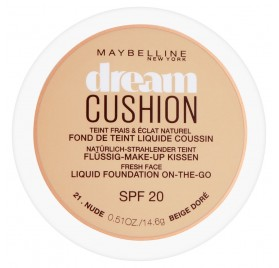 Fond de teint Maybelline Dream Cushion n°021 Beige doré, en lot de 6p