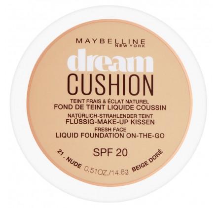 Fond de teint Maybelline Dream Cushion n°021 Beige doré, en lot de 6p