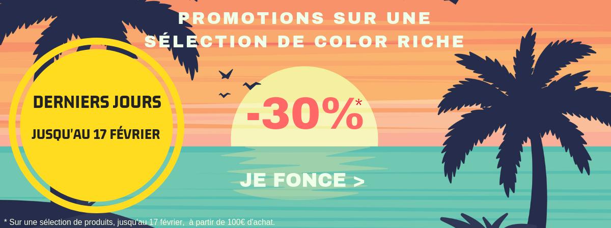 promo 30% color rich