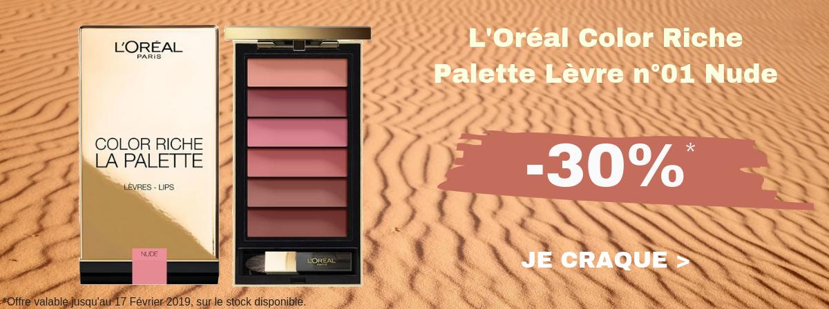 L'Oréal Color Riche La Palette Levre n°01 Nude