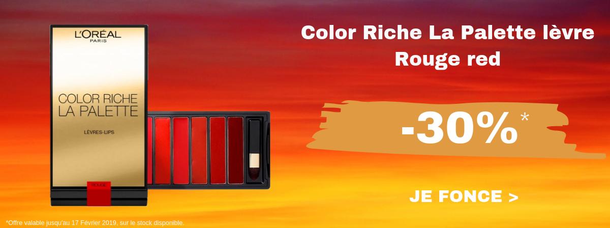 L'Oréal Color Riche La Palette levre Rouge red -30%
