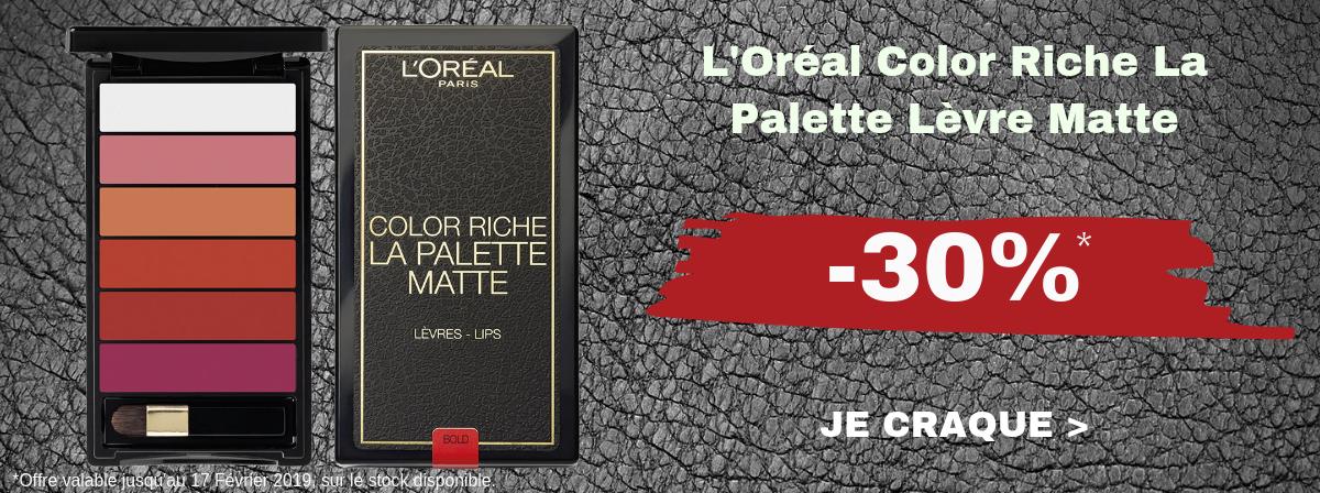 L'Oréal Color Riche La Palette Levre Matte -30%