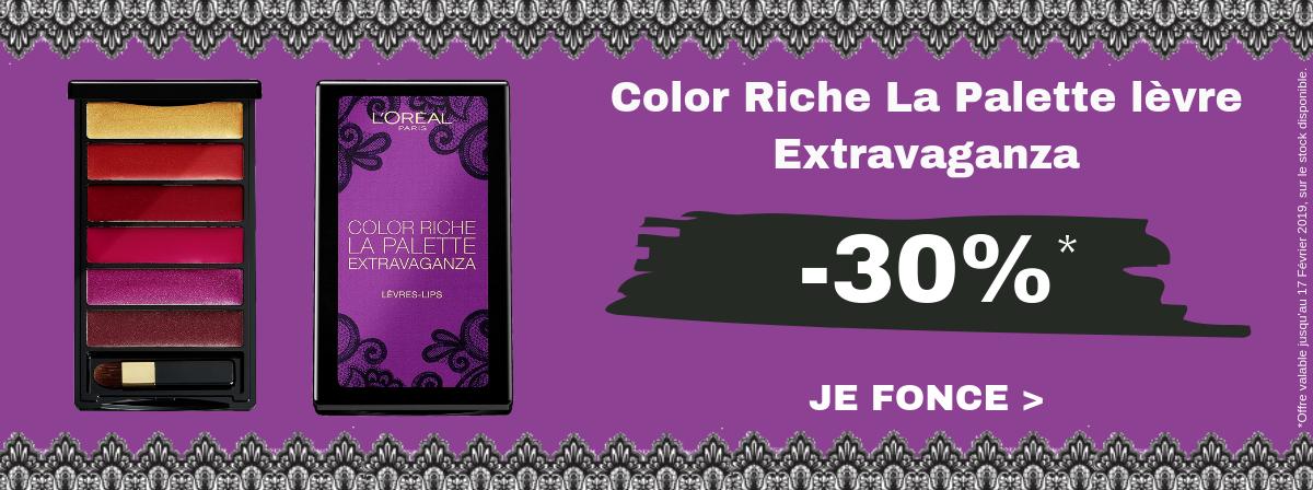 L'Oréal Color Riche La Palette levre Extravaganza -30%