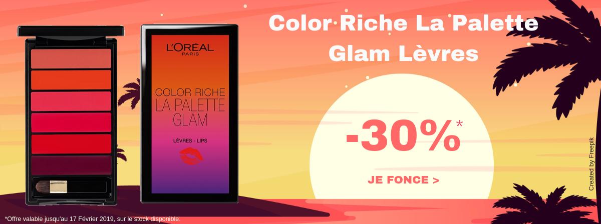 L'Oréal Color Riche La Palette levre Glam -30%